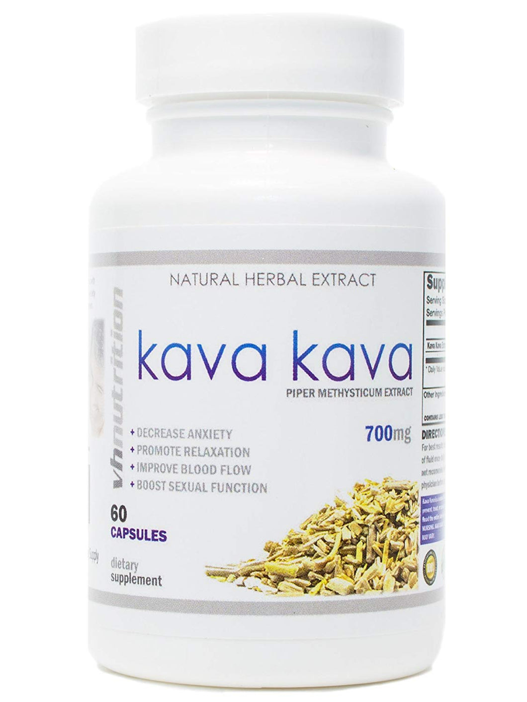 Kava Kava | 700mg Capsules | Piper Methysticum Extract | 60 Day Supply