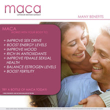 Load image into Gallery viewer, Maca Root Capsules | Female Libido Supplement | Sexual Enhancement for Women to Boost Sex Drive | 30 Day Supply | 700mg