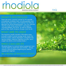 Load image into Gallery viewer, Rhodiola Rosea Supplement | 700 mg Rhodiola Root Pills | 60 Day Supply