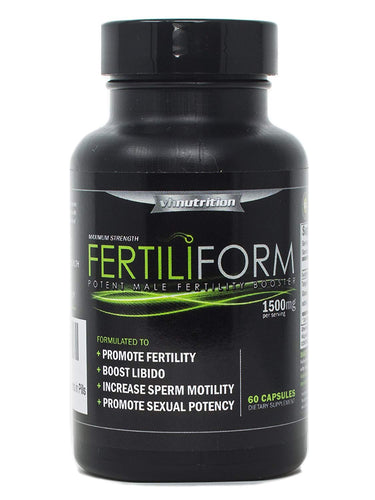 FertiliForm Male Fertility Supplement | Natural Blend of Vitamins and Supplements in Pills