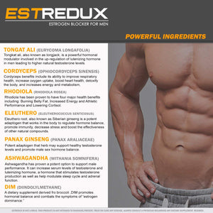 Estredux Estrogen Blocker for Men | Aromatase Inhibitor and Anti Estrogen