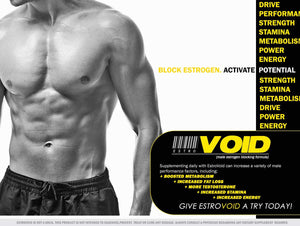 EstroVoid Estrogen Blocker for Men | Aromatase Inhibitor, Anti Estrogen, and Testosterone Booster