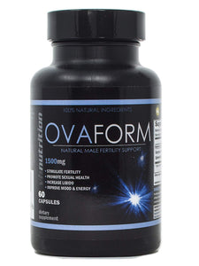 OvaForm Mens/Male Fertility Supplement | Natural Blend of Vitamins and Supplements in Pills