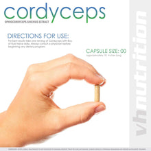 Load image into Gallery viewer, Cordyceps Sinensis Mushroom | 710mg Capsules | 7% Cordycepic Acid Extract Powder | 30 Day Supply