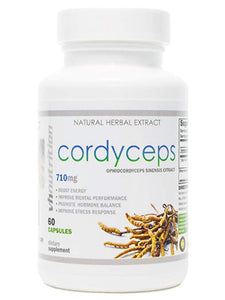 Cordyceps Sinensis Mushroom | 710mg Capsules | 7% Cordycepic Acid Extract Powder | 30 Day Supply