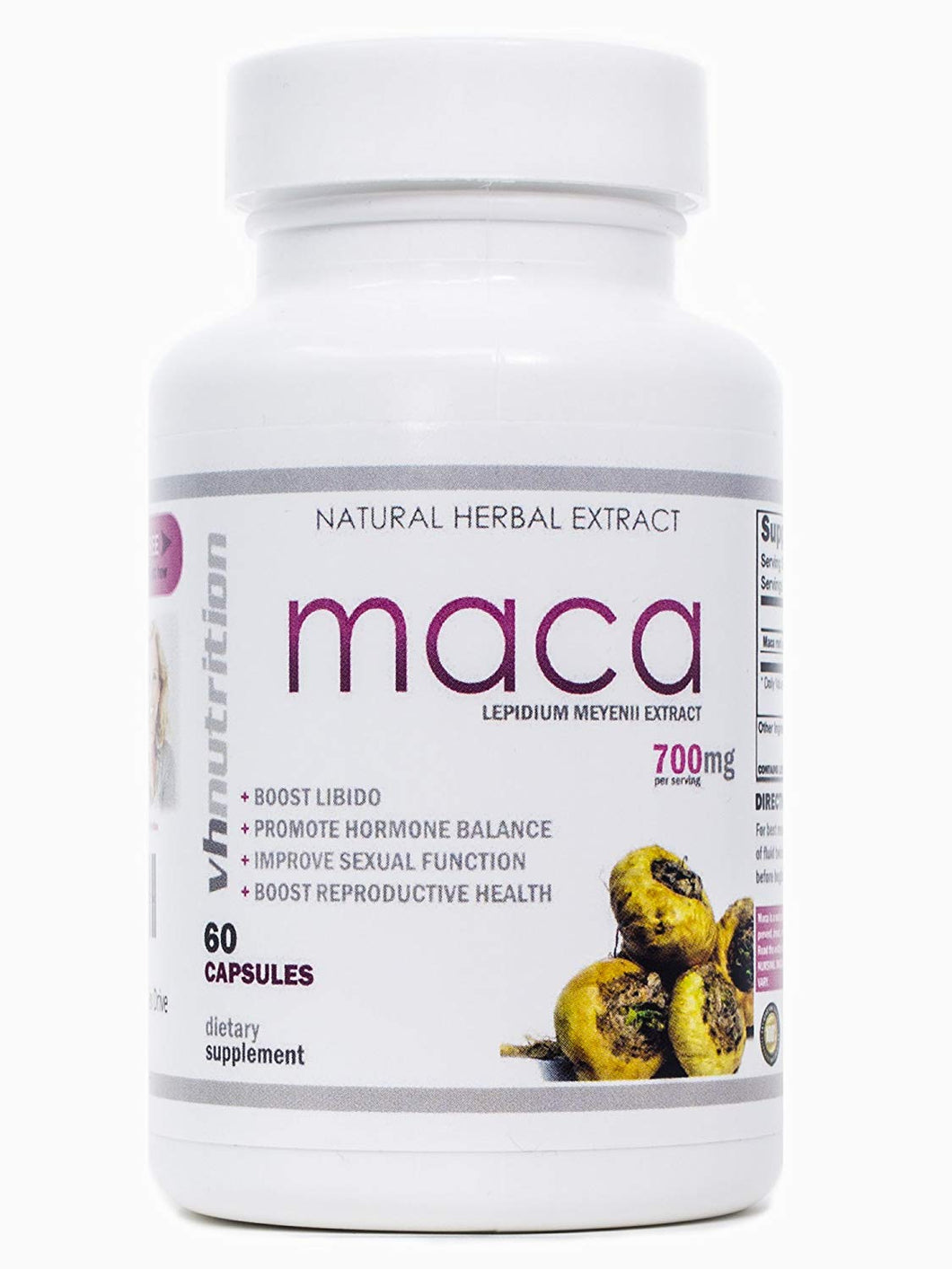 Maca Root Capsules | Female Libido Supplement | Sexual Enhancement for Women to Boost Sex Drive | 30 Day Supply | 700mg