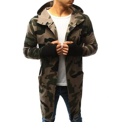 Street Fashion Camouflage Long Casual Coat
