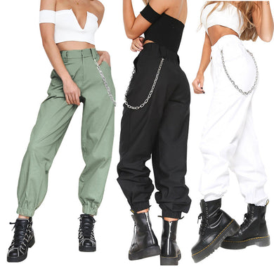 Female Solid Color Sports Casual Pants