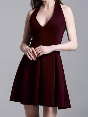Ms. New Halter Halter V-Neck Sleeveless Dress