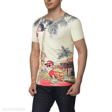 Funny Cartoon Floral Printed Shirt