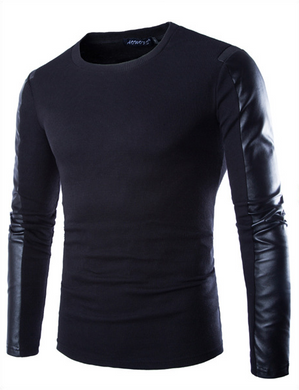 PU Leather Long Sleeve