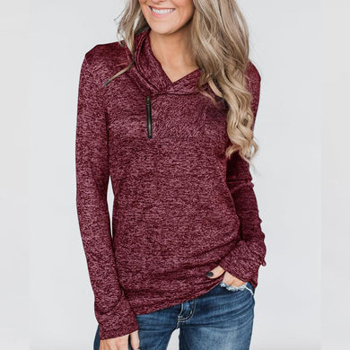 Zipper Long Sleeve Casual Sweatshirts