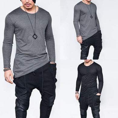 Street Fashion Irregular Hem T-Shirts