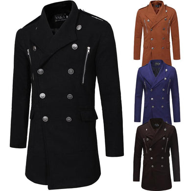 Men's New Style Double-Breasted Coat