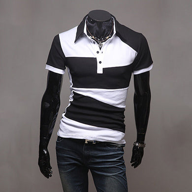 Lapel Colorblock T-Shirt