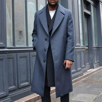 Solid Color Long Loose Suit Suit Collar Wool Coat Coat Report