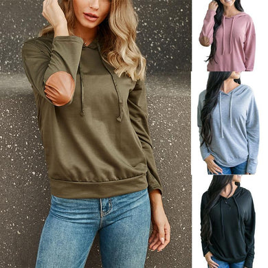 Solid Color Long Sleeve Slim Hooded Sweater
