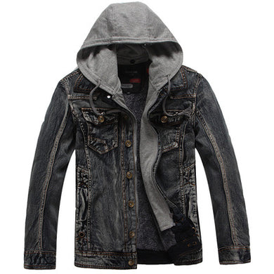 Warm And Thick Hooded Cowboy Coat