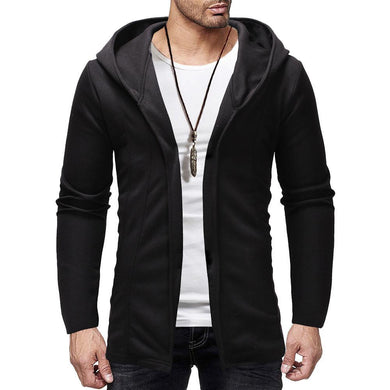 Men's Casual Plain  Cardigan Hoodie