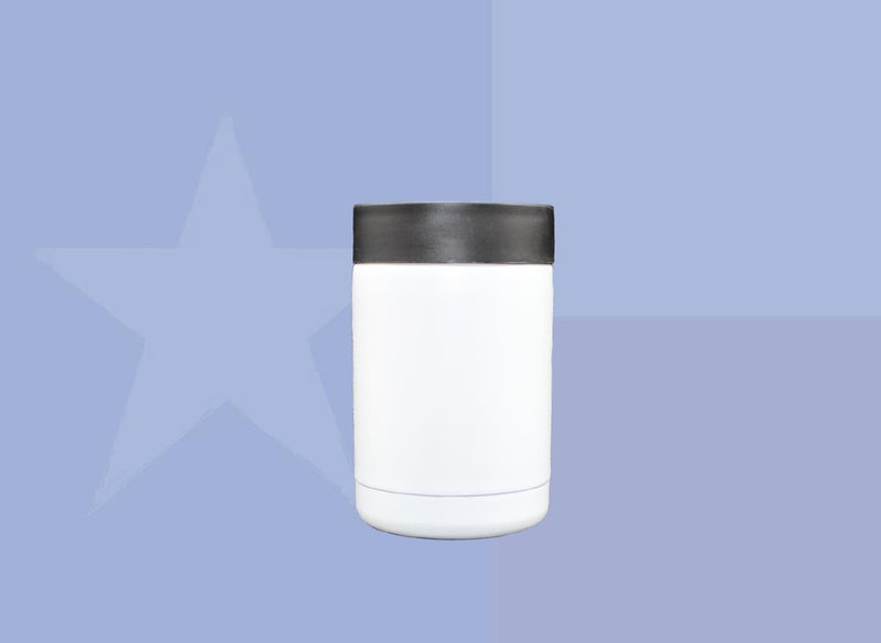 12oz Can Cooler - White