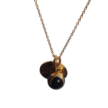Smokey Topaz Cocktail And Gold Pendant Necklace