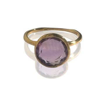 Gold Amethyst Ring 18ct Gold Vermeil