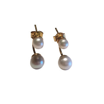 Rose Gold Pearl Earrings Pearl Cuff Earrings