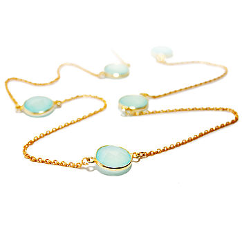 Aqua Chalcedony Timeless Necklace