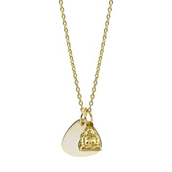 Personalised Buddha Gold Necklace Protection