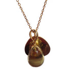 Citrine Gemstone Gold Necklace With Gold Pendant