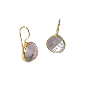 Topaz Gold Earrings Gift For Her