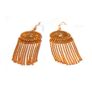 Gold Sun Drop Earrings