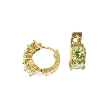 Peridot Earrings Gold Hoop Earrings Gifts For Her