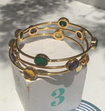 Amethyst Gold Bracelet Gold Bangle