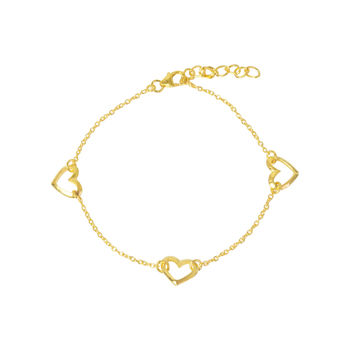 Gold Heart Bracelet Valentines Gift For Her