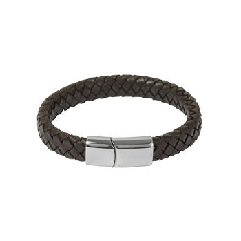 Mens Brown Leather Bracelet
