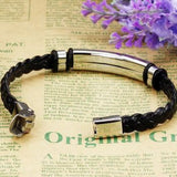 Mens Leather Bracelet Rectangular