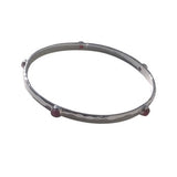Genuine Ruby Stone Silver Bangle