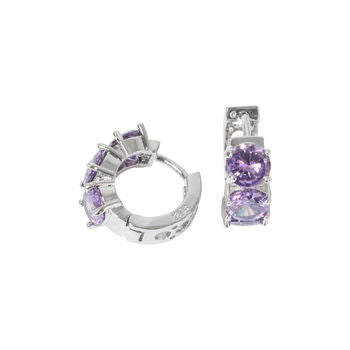 Amethyst Earrings Hoop Earrings