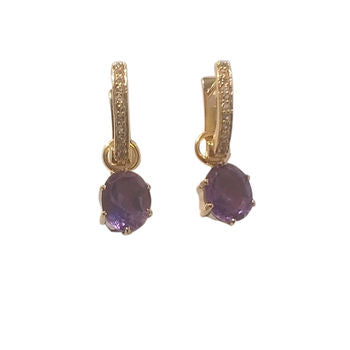 Purple Amethyst Designer Earrings Gift For Her