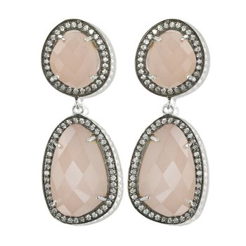Rose Quartz Statement Earrings
