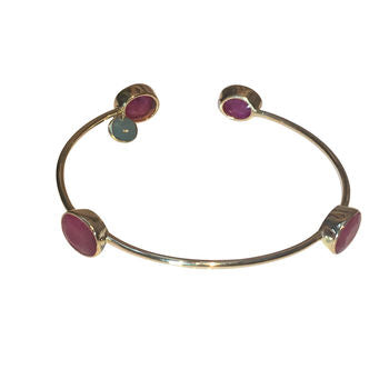 Ruby Gemstone Gold Bracelet Gifts For Her