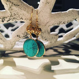 Turquoise Earrings Statement Earrings