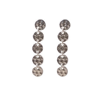 Solid Silver Hammered Coin Earrings