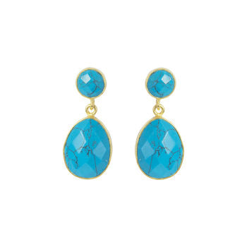 urquoise Teardrop Earrings