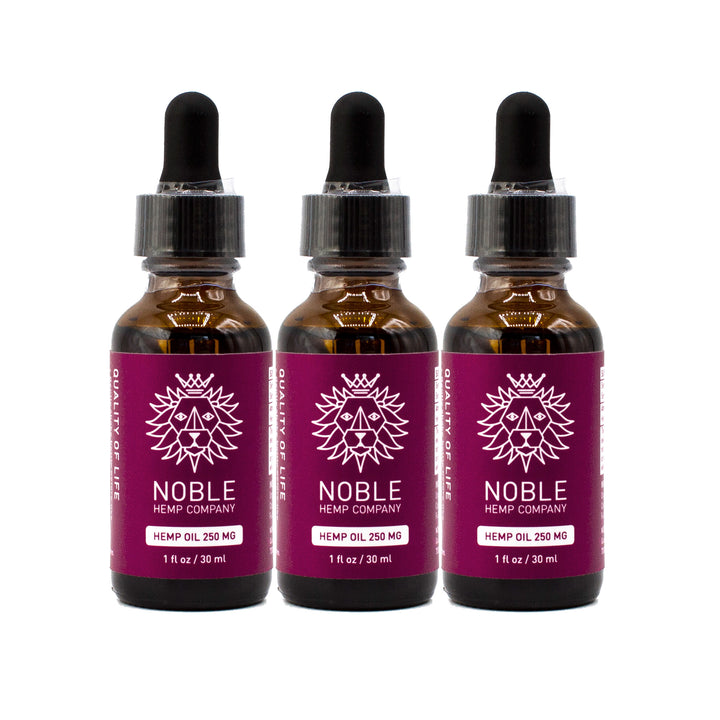 Tincture - Hemp Oil Drops - 250mg Full Spectrum Hemp Extract (3-Pack Special)