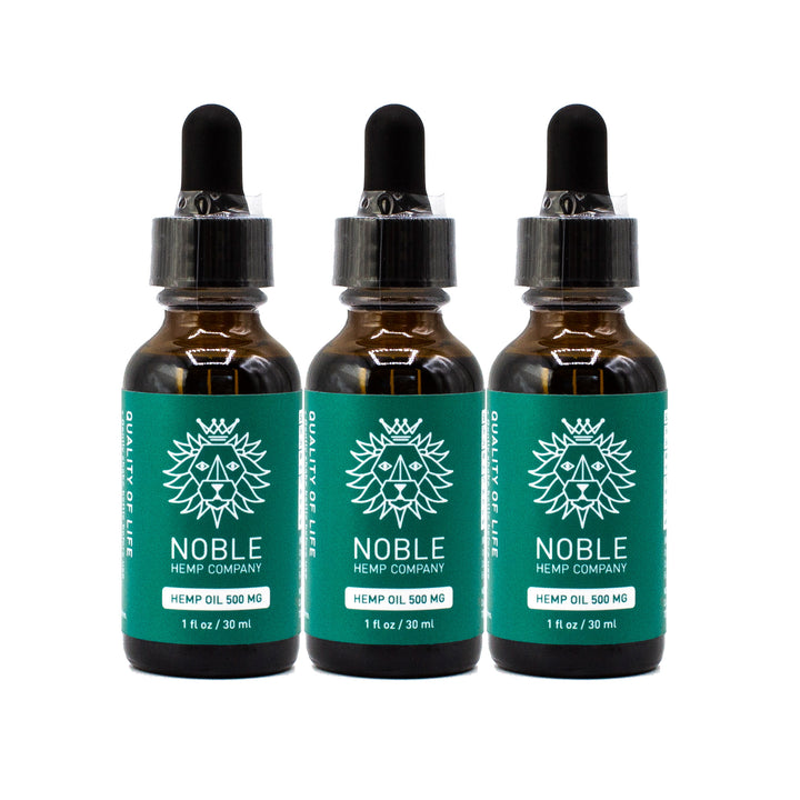 Tincture - Hemp Oil Drops - 500mg Full Spectrum Hemp Extract (3-Pack Special)