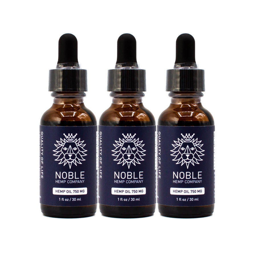 Tincture - Hemp Oil Drops - 750mg Full Spectrum Hemp Extract (3-Pack Special)