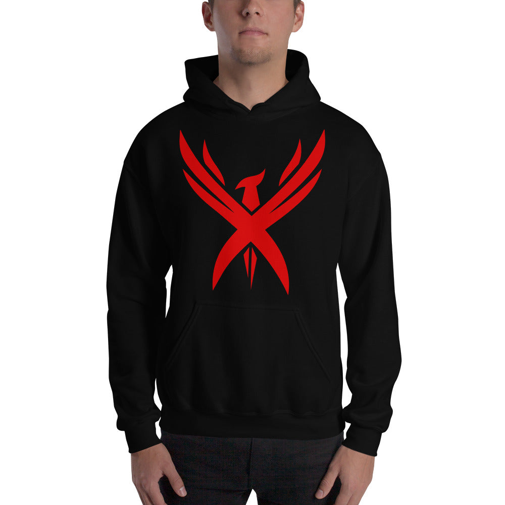 "Unisex ""Crimson Phoenix"" Hooded Sweatshirt"