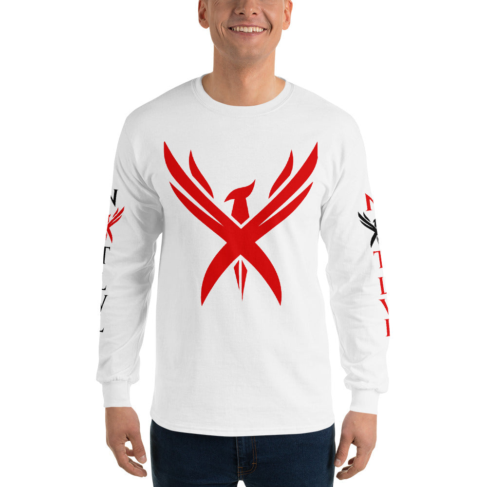 "Men's ""Crimson Phoenix 2"" Long sleeve T-shirt"